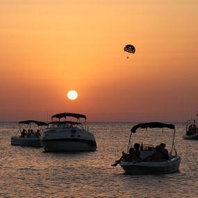 Ibiza sunset boats